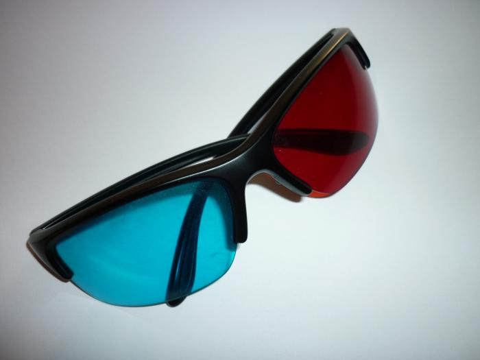 3d Brille in der Großansicht