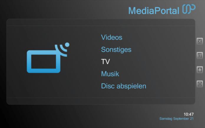 Mediaportal Software Interface