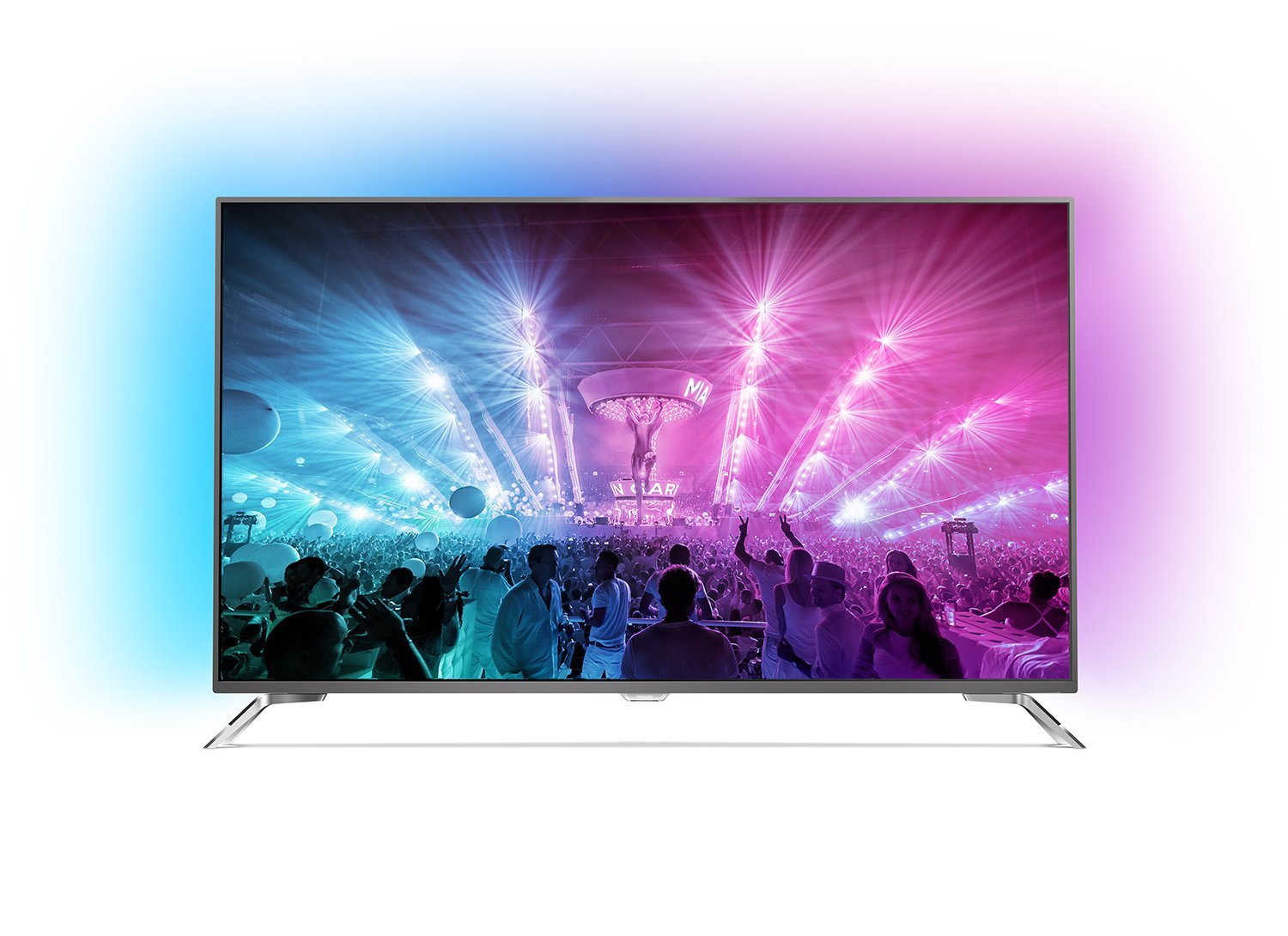 Philips 75PUS7101/12 189cm 75Zoll Fernseher Ambilight 4K Ultra HD Triple Tuner Android TV